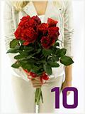 Prodej růží - 10 růží