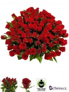 Kytice růží - 100 růží v kytici