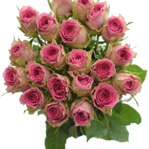 Kytice - Kytice 21 růžových růží TIMES SQUARE 50cm