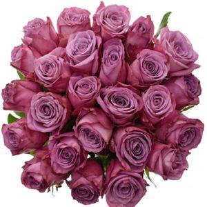 Kytice - Kytice 25 fialových růží MOODY BLUES 60cm