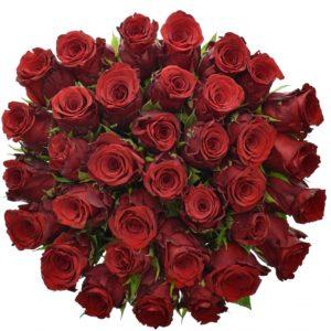 Kytice - Kytice 35 rudých růží INCREDIBLE 50cm
